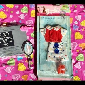Boho  Barbie Polka Dot Skirt Red Top